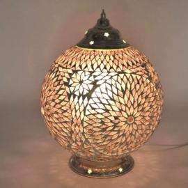 Mozaïek tafellamp 25 cm. - paars - Turks