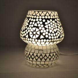 Oosters mozaïek tafellampje paddenstoel transparant