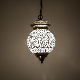 Oosterse hanglamp Bibi transparant mozaïek - 15 cm.