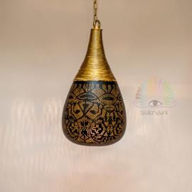 Oosterse filigrain hanglamp Agra - zwart goud