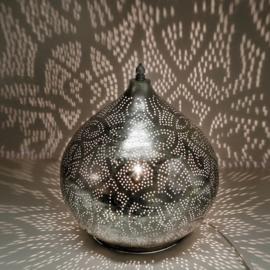 Filigrain tafellamp onion vintage zilver