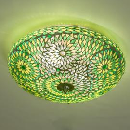 Plafondlamp mozaïek  groen - 38 cm. - Turks design