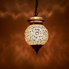 Oosterse hanglamp Bibi paars mozaïek - 15 cm.