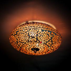 Plafondlamp mozaïek  paars - 25 cm.
