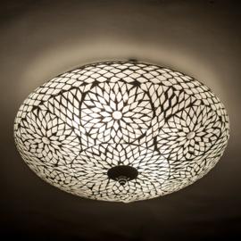 Plafondlamp mozaïek transparant - 38 cm. -Turks design.