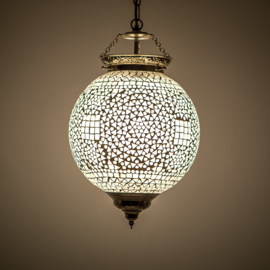Oosterse hanglamp met transparant mozaïek - 25 cm.