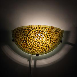 Oosterse mozaïek wandlamp halve maan - bruin en beige