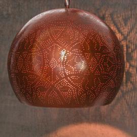 Oosterse hanglamp open onderkant - roest