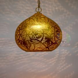 Oosterse filigrain hanglamp Morada vintage goud