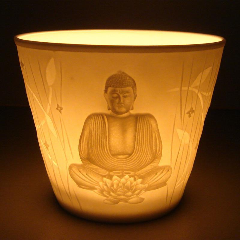 Boeddha reliëf in geschenkdoos.