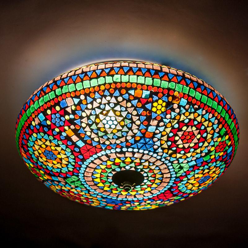 Plafondlamp mozaïek multi color - 38 cm.