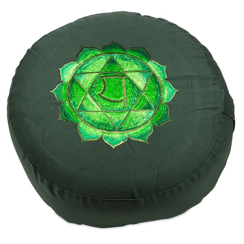 Meditatiekussen - poefje 4e Chakra groen