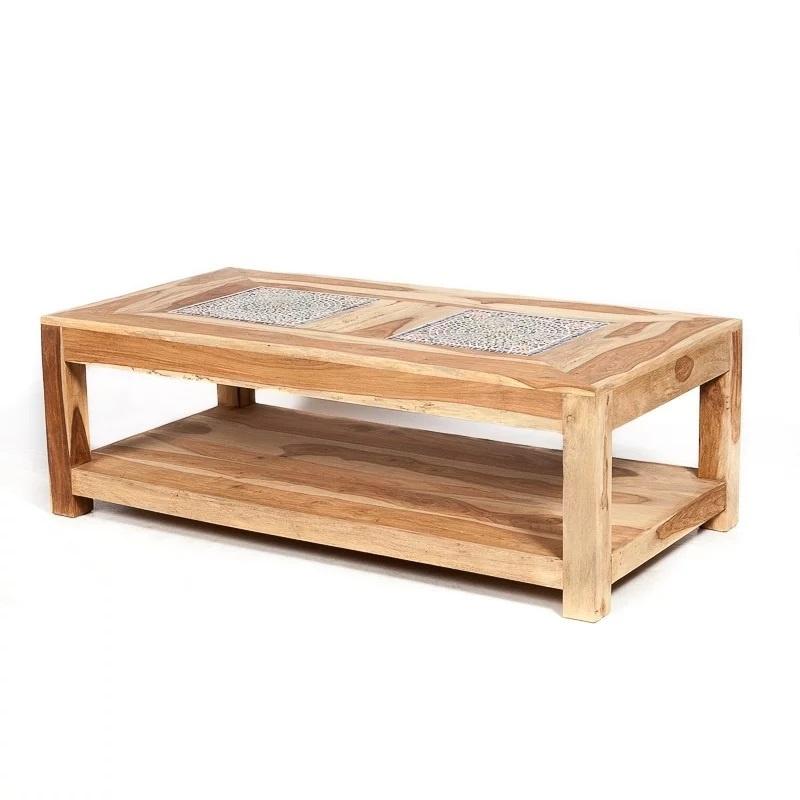 Oosterse salontafel met multi color mozaïek top.