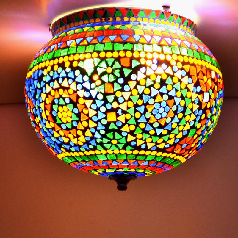 Oosterse mozaïek badkamer plafondlamp Pani - multi color