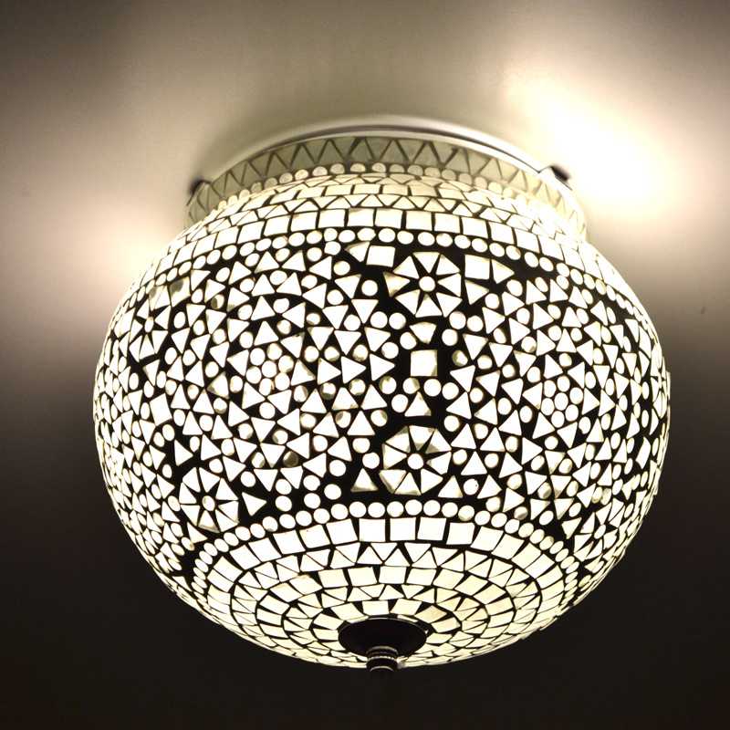 Oosterse Badkamer Plafondlamp Transparant Sukria