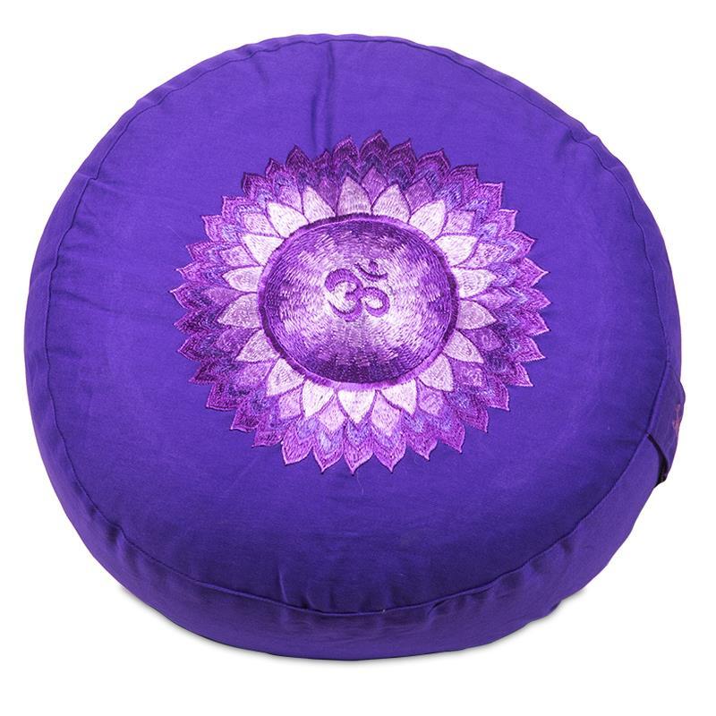 Meditatiekussen - poefje 7e Chakra paars