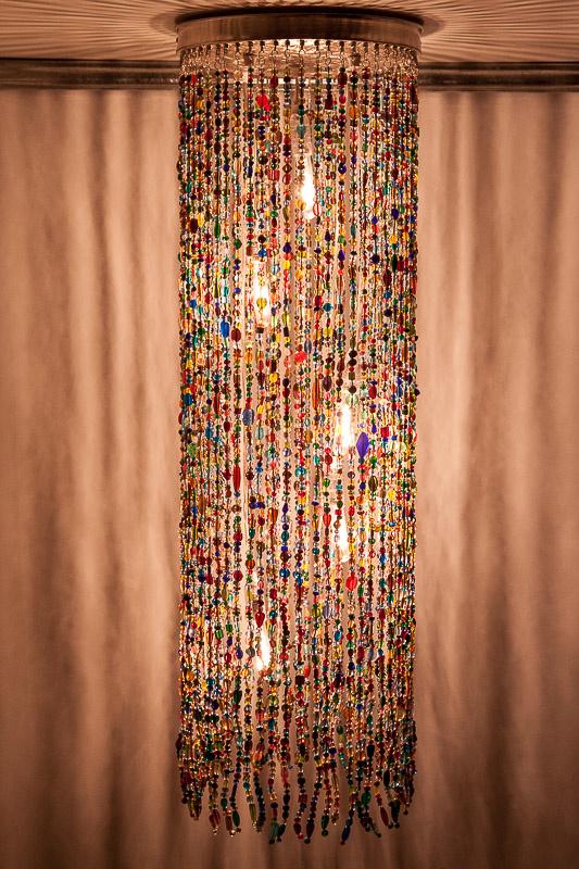 Hanglamp glaskralen multi colour