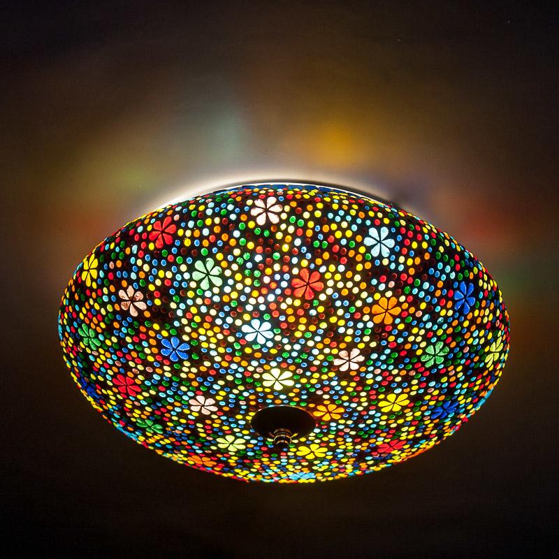Plafondlamp mozaïek flower - muti color - 38 cm.
