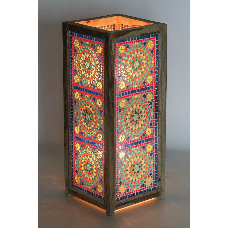 Vloerlamp mozaïek multi color - 60 cm.