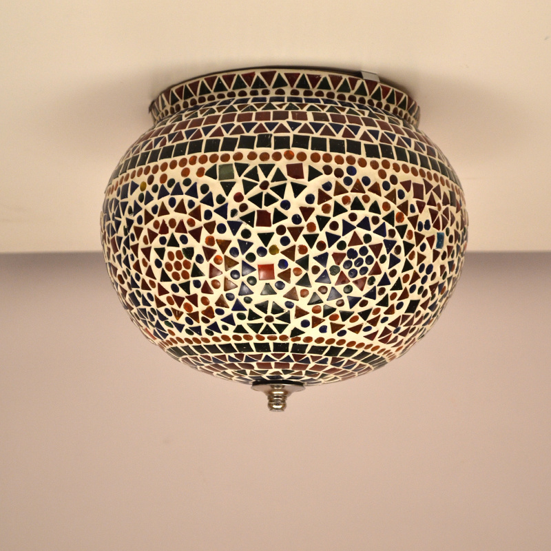 Oosterse Mozaiek Badkamer Plafondlamp Pani Multi Color Oosterse Plafondlampen Sukria
