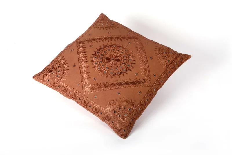 Oosters sierkussen Phenkana 50x50 cm. bruin