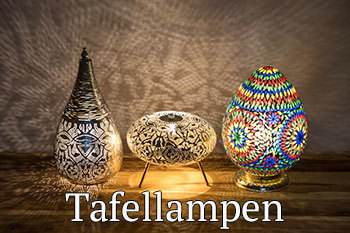 Tafellampen mozaïek en filigrain