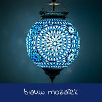 blauw mozaïek