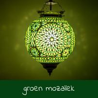 groen tinten mozaïek