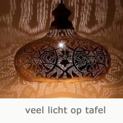 filigrain hanglamp met veel lichtval naar beneden