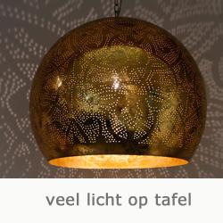 filigrain lamp met open onderkant 50 cm.