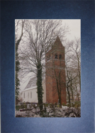 Dorpskerk Huizum in de winter.
