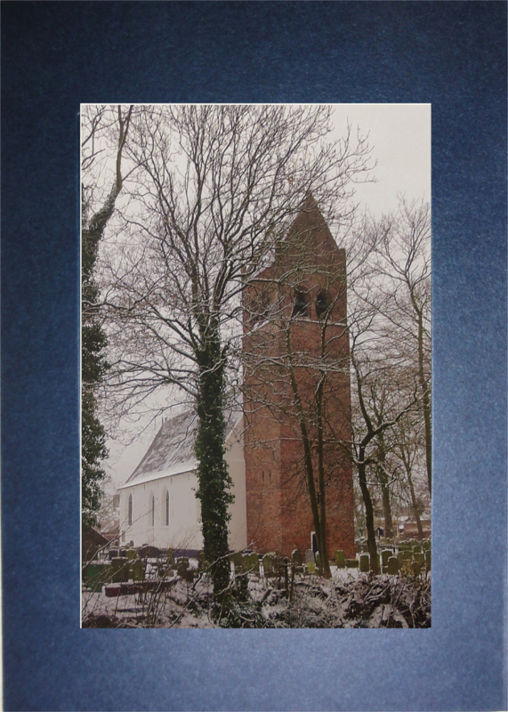 Dorpskerk Huizum in de winter.