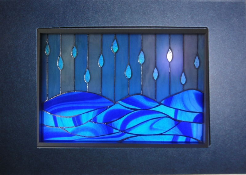 """Lichtkaart  """"Twee voor twaalf"""" Blauw."""