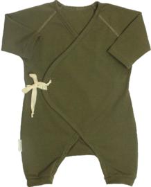 Stoere leger groene onesie
