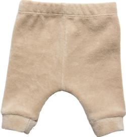 Neutraal beige broekje van heerlijk zacht velours