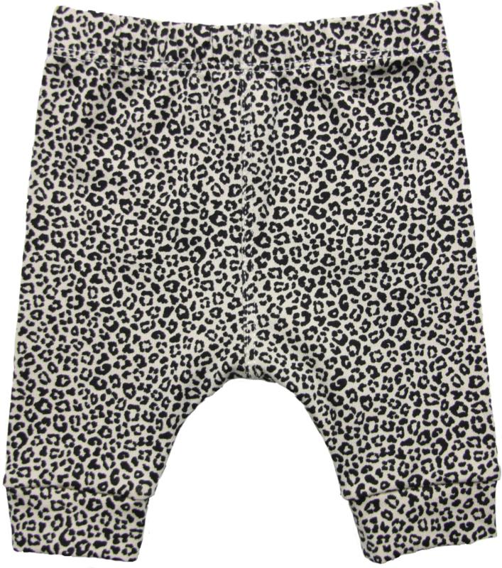 Stoer broekje met mini panterprintje