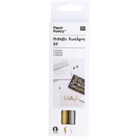 Brushpennen Rico Design - Set van goud en zilver