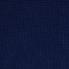 Wafelkatoen marineblauw