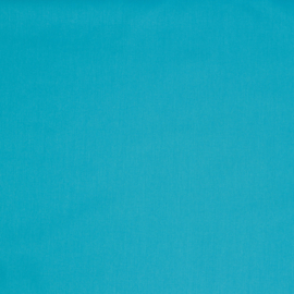 Katoen - Effen blauw - turquoise