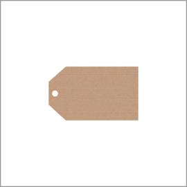 Kraftpapier label hoekig - klein