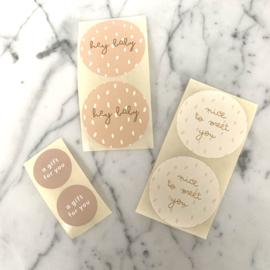 Set van 6 stickers 'blush'