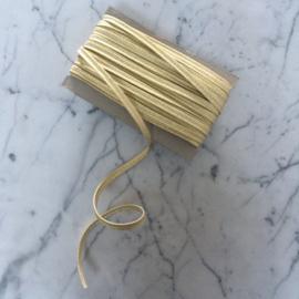 Paspel lurex 3mm dik - Goud metallic