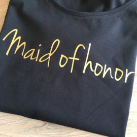 T-shirt voor de getuige: Maid of honor