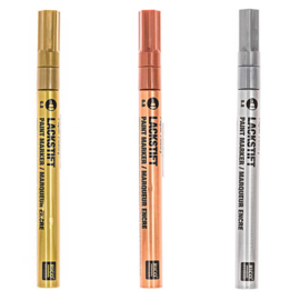 Lakstiften Rico Design - goud/koper/zilver