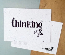 Bloeikaart BLOOM your message 'Thinking of you'