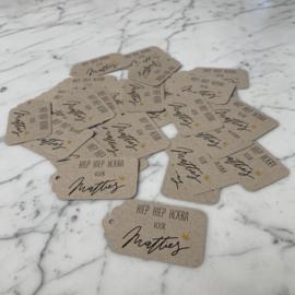Labels en kaartjes