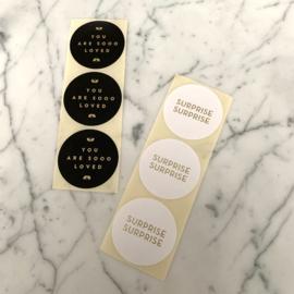 Set van 6 stickers 'gold'