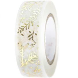 Washi tape takjes wit-goud