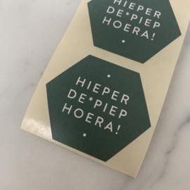 10 stickers 'Hieperde*piep hoera!