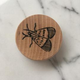 Houten magneet vlinder 2